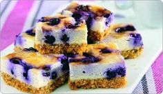 Blueberry Cheesecake Bars: 100 cal