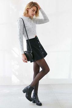 Glamorous Risen Texture Cropped Sweater