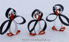 Super Fun Kids Crafts : Toilet Paper Roll Crafts For Kids (national penguin day next year) Toilet Roll Craft, Toilet Paper Roll Art, Rolled Paper Art, Toilet Paper Roll Crafts, Winter Crafts For Kids, Fun Crafts For Kids, Diy For Kids, Crafts To Make, Easy Crafts