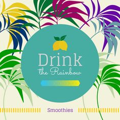 Drink the Rainbow Smoothie Series: Yellow Sunshine Smoothie  #smoothie #healthy