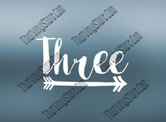 Three Year Old Baby Decal  Toddler Decal  3rd by ThatVinylStore