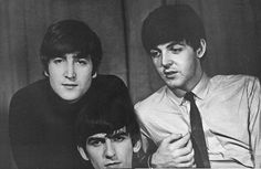 John, Paul and George, photographed by Ringo