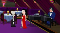 """Hayley sings at Roger's bar, and Roger falls in love with her. """"Love, American Dad Style"""" season 9, episode 1 (First Aired: September 30, 2012)."""