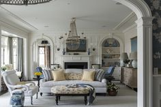 Lee Ann Thornton , an interior designer based in Greenwich, Connecticut and now also in New York City, has designed some gorgeous blue and white spaces. She incorporates many shades of blue into h…