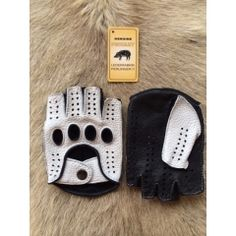 Besondere Fingerlose Peccary Lederhandschuhe für Herren