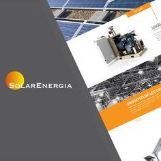 Modernizácia postaršieho webu pre spoločnosť SolarEnergia. Desktop Screenshot, Led