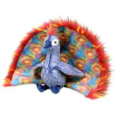 TY Beanie Baby - FLASHY the Peacock (5.5 inch) 740eb1adb249