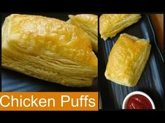 How to make Chicken Puffs with Homemade Puff Pastry Sheets - YouTube