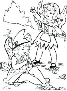 Free Printable fairy coloring pages. Fun and adorable coloring pages for fairy lovers. Fairy Coloring Pages, The Elf, Elves, Gnomes, Wild Flowers, Fairies, Free Printables, Toys, Blog