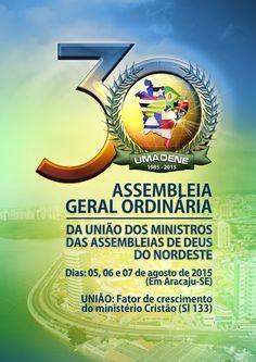 Logotipo da 30ª AGO da União dos Ministros das Assembleias de Deus do Nordeste.