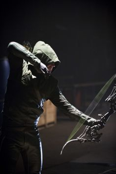 "Arrow - - ""The Scientist ""- Stephen Amell as Oliver Queen/The Arrow Arrow Cw, Arrow Oliver, Team Arrow, Dc Comics Tv Shows, Dc Tv Shows, Green Arrow, Supergirl, Arrow Comic, Arrow Tv Series"