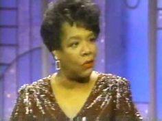 Maya Angelou on Arsenio Hall pt 1 - YouTube