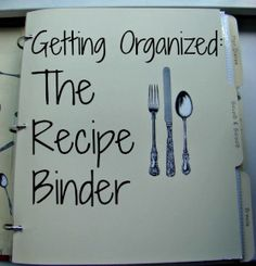 Getting Organized The Recipe Binder