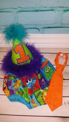 1st birthday monster  cake smash