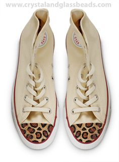 Leopard Print Converse Tutorial – How To Crystallize With Swarovski Elements 4626a51bef