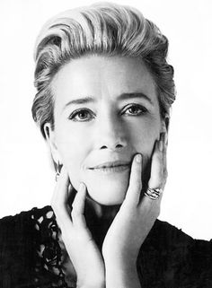Emma Thompson (1959) is a British actress, comedienne, screenwriter and author. Cited as one of the greatest British actresses of her generation, she is known for her portrayals of reticent women in period dramas and literary adaptations, often playing haughty or matronly characters with a sense of irony. Thompson garnered dual Academy Award nominations.
