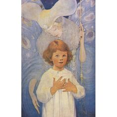 A Childs Book of Stories 1911 The fairy god-mother Canvas Art - Jessie Willcox Smith (18 x 24)