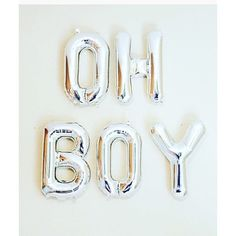 OH BOY Silver Balloons Oh Boy Shower Theme Oh Boy by girlygifts07