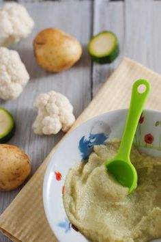 Potato, Zucchini And Cauliflower Homemade Baby Food Recipe