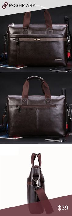 8f43f8feaf88 Awesome design bag men and women Free Shipping 2017 New Fashion pu Leather  Bags for Men famous brand POLO Men s Shoulder Bag Leather Messenger Bag  briefcase ...