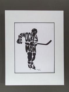 Personalized Sport  Figure - HOCKEY MOM. $25.00, via Etsy.