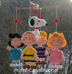 Movil Cuna Decorativo Móvil Bebé Charlie Brown por feltcutemobile