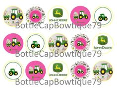 Bottle Cap Images - John Deere- John Deere Bottle Cap Images- Caps $0.99