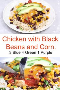 This EASY Slow Cooker Salsa Chicken with Black Beans and Corn recipe is cheesy and delicious, made with boneless chicken breast, black beans, corn, and salsa topped with melted cheddar cheese. YUM! Slow Cooker Black Beans, Slow Cooker Soup, Corn Recipes, Chicken Recipes, Ww Recipes, Healthy Dinner Recipes, Cooking Recipes, Slow Cooking, Cooking Ideas
