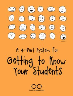 System for Getting to Know Your Students Relationship building is key to good teaching. This system will help you quickly get to know students and benefit from those connections all year long. Continue Reading →Getting On Getting On may refer to: Get To Know You Activities, First Day Of School Activities, Cult Of Pedagogy, Teaching Strategies, Teaching Tips, Teaching Methodology, Beginning Of The School Year, New Teachers, Teachers Toolbox
