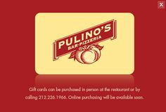 Menus - Pulino's Bar & Pizzeria - New York City