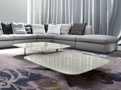 Low rectangular marble coffee table for living room NORD by ERBA ITALIA | design Giorgio Soressi
