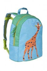 Lässig Kinderrucksack Rucksack Kindergartenrucksack Mini Backpack Wildlife Giraffe hellblau