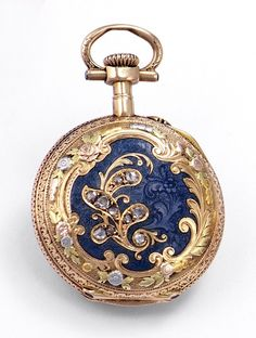 Lepine miniature pendant watch with diamond embellishments, Paris, c. 1890.