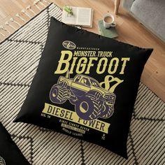 'Whiskey Design and Artwork' Floor Pillow by goldrockCL Floor Pillows, Throw Pillows, The Rock, Whiskey, Monster Trucks, Art Prints, Artwork, Printed, Store