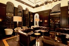 Drumbar, 201 East Delaware Place (between Michigan Avenue and Dewitt Place); 312-924-2531.   Drumbar    Thanks to its lively rooftop, this watering hole opened with a bang during the summer. While you'll have to wait until next year to check it out, the sexy indoor lounge has plenty to offer in terms of romance. With oversized leather furniture, intricate lighting fixtures, and wood-paneled walls, the decor is reminiscent of a ritzy penthouse.