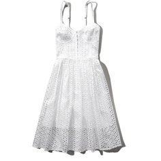 Abercrombie & Fitch Eyelet Skater Dress ($54) ❤ liked on Polyvore