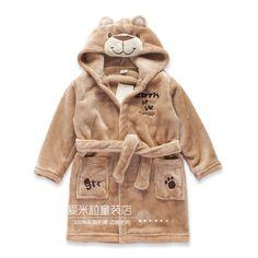 2016 милые животные модель дети халат бытовой банный халат детская ватки пижамы мальчиков хлопчатобумажные халаты бесплатная доставка купить на AliExpress