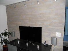Naturstein Wand Wohnzimmer