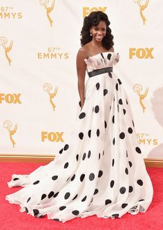 Teyonah Parris in Francesca Miranda at the 2015 Primetime Emmys