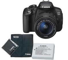 £539 inc spare battery CANON EOS 700D DSLR Camera with 18-55 mm Telephoto Zoom Lens, Extra Battery & Lens Cloth