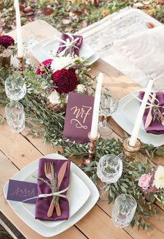 Bohemian wedding inspiration in berry colors and Marsala .- Bohemian-Hochzeitsinpiration in Beerenfarben und Marsala Bohemian wedding inspiration in berry colors and Marsala - Bohemian Wedding Inspiration, Boho Wedding, Wedding Gifts, Wedding Day, Elegant Wedding, Marsala, Wedding Table Decorations, Wedding Centerpieces, Wedding Colors