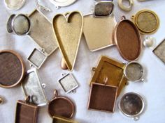 Jewelry Pendant Blanks - perfect for mixed media jewelry by Nunn Design