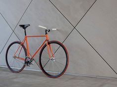 Agent orange by sleepstreet. Fixed Gear Bicycle, Cycling, Bicycles, My Style, Vehicles, Orange, Inspiration, Urban, Design