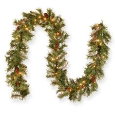 The Holiday Aisle® Ornaments in Snow Garage Door Mural & Reviews Pre Lit Garland, Pine Garland, Berry Garland, Light Garland, Garland Ideas, Outdoor Garland, Garland Decoration, Outdoor Christmas, Christmas Fun