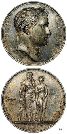 Napoleon I. 1804. Andrieu Bertrand. French medalist. Antoine Denis Chaudet. French. draft. silver embossed medallion.