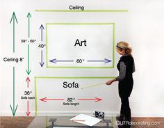 Mapping out your art with Painter's tape helps you figure out if the art size is right.