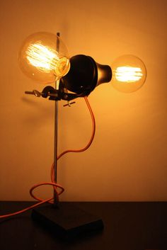 labsect   edisonbulb.at Desk Lamp, Table Lamp, Vintage Lighting, Bulb, Home Decor, Light Fixtures, Homemade Home Decor, Table Lamps, Onion