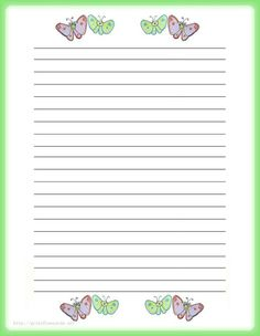 writing paper template free