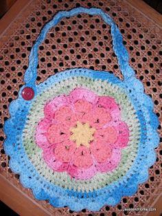 Crochet-Flower-Bib ~ free pattern