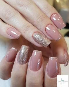 Nail Color 58 Chic Natural Gel Short Coffin Nails Color Ideas For Summer Nails - pink glitter Acrylic Summer nails color design, Natural gel short coffin nails design ideas, Acrylic short square nails ideas, nails nails coffin color Short Nail Designs, Colorful Nail Designs, Gel Nail Designs, Nails Design, Perfect Nails, Gorgeous Nails, Stylish Nails, Trendy Nails, Cute Acrylic Nails